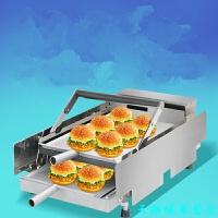 商用汉堡机双层烘烤面包机全自动加热汉堡炉汉堡店设备