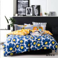 床单式纯棉三件套1.2米1.8m床全棉布床上四件套春秋