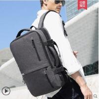 英伦百搭大容量出差旅行手提行李包双肩包男士商务背包多功能15.6寸电脑包