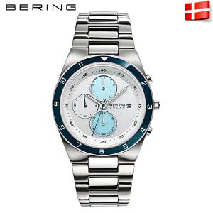 Bering白令光能表 男多功能防水手表商务太阳能腕表34440