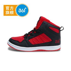 361度童鞋 儿童休闲鞋18秋季新款男童滑板鞋大童高帮鞋子 N71832701