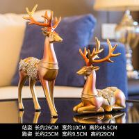 【品质】鹿摆件北欧式家居家装饰品客厅新婚结婚礼物酒柜创意电视柜