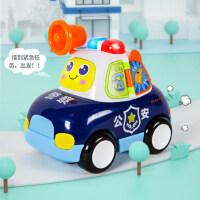 汇乐玩具电动儿童玩具正义警车宝宝小汽车音乐万向行走1-3岁男孩
