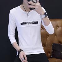 男士长袖T恤青少年�B恤衣服男秋季小衫学生秋衣韩版秋装打底衫潮