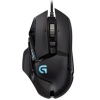 罗技(Logitech)G502 炫光自适应游戏鼠标 RGB鼠标 有线鼠标 竞技可编程 1680万色自定义RGB指示灯