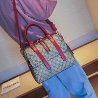 七夕礼物2018秋季新款波士顿包女包手提包欧美时尚大包包单肩斜挎包枕头包