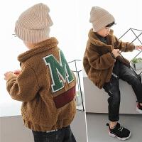 男童羊羔毛外套加厚2017冬季新款韩版儿童加绒冬装上衣3岁保暖