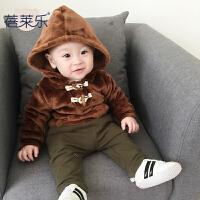 女宝宝婴儿童装卫衣秋装秋季上衣服0岁6个月男童新生儿潮款外套冬