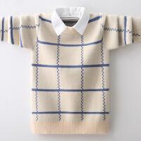 男童毛衣秋冬款中大童套头儿童针织衫加绒羊毛衫潮