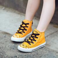 �和�帆布鞋�W生�n版鞋子板鞋高��