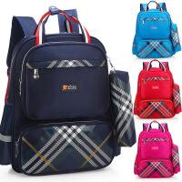 开学书包新款英伦风时尚多功能小学生书包男女儿童减负护脊双肩包小学生书包送同款笔袋