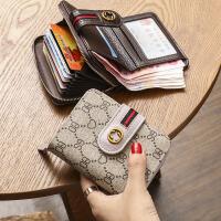卡包钱包一体包女 欧美2020新款小折叠钱包女短款 大气多功能两折