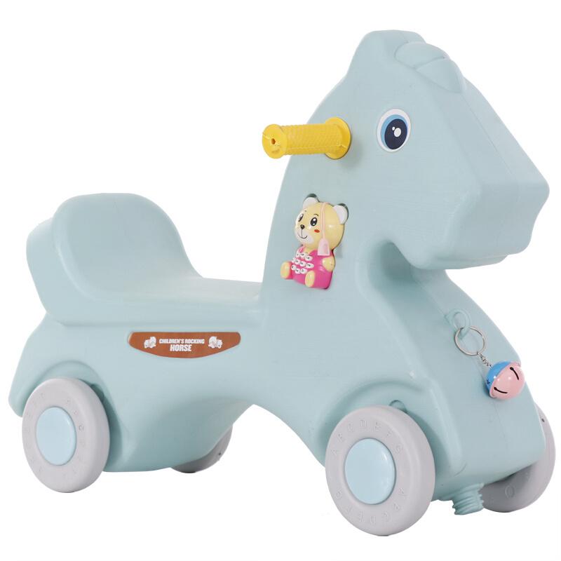 儿童塑料摇马木马婴儿小摇马大号加厚两用 室内宝宝玩具