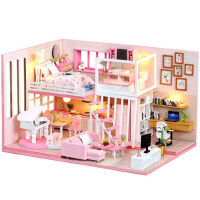 3d立体拼图木质模型女孩玩具屋房子手工制作DIY小屋儿童生日礼物