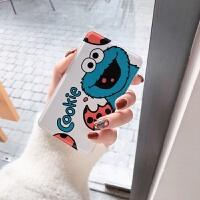 可爱卡通芝麻街充电宝苹果小米华为oppo手机通用型移动电源自带线