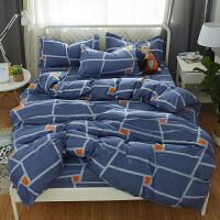 宿舍单人床被子棉三件套床单被套床上用品学校上下铺被褥六件套 乳白色 简爱b