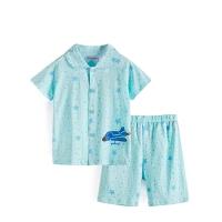 男童短袖家居服夏季 儿童睡衣纯棉 宝宝夏装衣服中大童