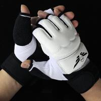 半指拳击手套散打拳套搏击格斗泰拳训练沙袋少年拳击套男女 手套S码(加长护腕版 ) 10OZ