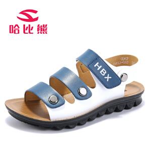 【每满100减50】哈比熊童鞋夏款男童凉鞋软底中小童夏季韩版儿童沙滩鞋时尚潮