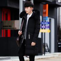 男士棉衣冬季新款中长款外套男连帽棉袄潮流加厚保暖羽绒