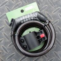 折叠自行车钢缆锁密码锁便携式链条挂锁骑行装备防剪锁