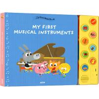 【全店满300减80】英文原版 My First Music Book系列 Musical Instruments 纸板发音书 小小音乐盒 儿童艺术启蒙