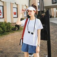 白色T恤短袖女2018新款夏季装宽松韩版简约纯色学生上衣潮ins百搭