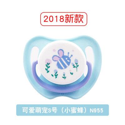 宝宝安抚奶嘴0-6-18个月婴儿安睡型硅胶奶嘴新生儿超软  h8s