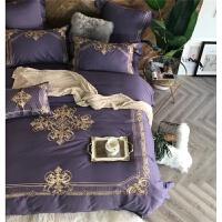 家纺欧式60支双股长绒棉刺绣纯棉被套四件套全棉床单1.8m2.0m床上用品