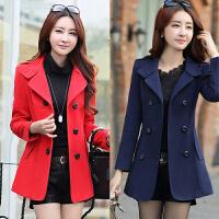 秋冬天呢子大衣中年少妇女装25-30-35-40岁韩版衣服加厚毛呢外套
