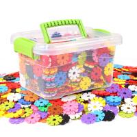 雪花片大号儿童积木塑料1000片装力女孩男孩宝宝拼插拼装玩具