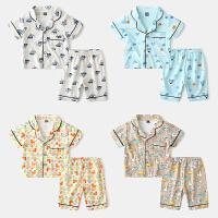 儿童家居服套装宝宝薄款男童短袖睡衣