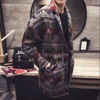男士中长款风衣20秋冬季韩版修身加厚呢子外套毛呢大衣男装潮流 花色