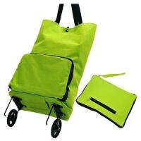 多功能拖轮包超市购物车手提购物袋大号可折叠便携式手拉车买菜车 绿色