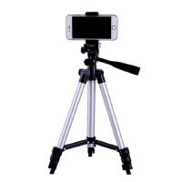 手机夹三脚架手机直播支架自拍杆三角架单反户外数码相机微单便携自拍拍照直播摄像自拍支架 6英寸以下手机适用