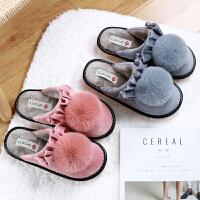 秋冬季棉拖鞋女室内防滑牛筋厚底家居家防滑保暖韩版可爱月子拖鞋