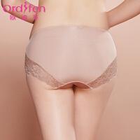 【2件3折到手价约:38】欧迪芬女士内裤性感蕾丝低腰平口内裤XP7511