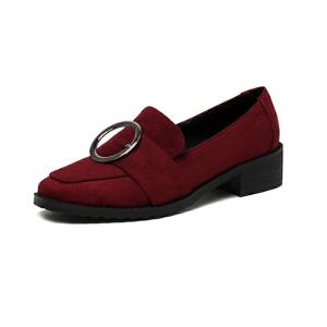O'SHELL法国欧希尔新品020-a36-3韩版磨砂绒面低跟女士单鞋