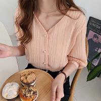 【流苏雪纺衫!】【300件限量疯抢!】2019夏装新款时尚流苏雪纺衫女短袖很仙的上衣洋气衬衣纯色打底衫