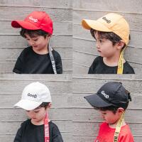 儿童织带糖果色鸭舌帽棒球帽