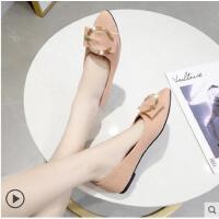 尖头单鞋女平底抖音同款新款浅口工作鞋女黑色女鞋女单鞋学生