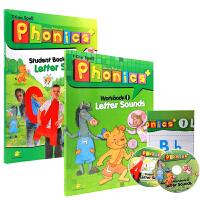 英文原版 小学英语启蒙自然拼读教材Super phonics 1 课本+练习册+大版挂图+CD+资源包 初级入门英语字母