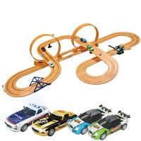 儿童玩具赛车双混合动力路轨道电动赛车遥控风火轮汽跑车玩具