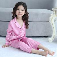 儿童睡衣女童长袖套装中大童女孩睡衣空调服亲子家居服