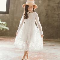 夏季款女童连衣裙蕾丝公主裙裙子中大童长款女孩网纱裙