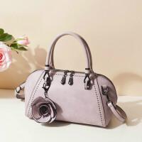 包包女新款潮单肩斜挎包时尚贝壳包百搭韩版女包手提包wh 粉紫色