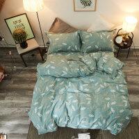 秋冬加厚棉磨毛四件套棉床品1.8米床单被套床品4件套