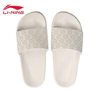 李宁拖鞋女鞋2018新款轻便耐磨防滑潮流夏季一字拖运动鞋AGAN024