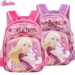 Barbie/芭比 小学生书包1-3年级女童双肩卡通书包BB8049