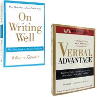 On Writing Well 写作指南 + 英语词汇单词 Verbal Advantage 英文原版工具书